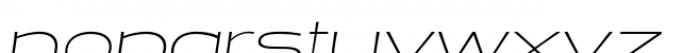 Halogen Flare Thin Oblique Font LOWERCASE