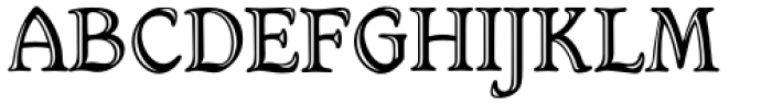 Hamlet Handtooled Regular Font UPPERCASE