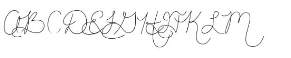 Hand Of Joy Breeze Font UPPERCASE