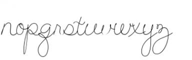 Hand Of Joy Breeze Font LOWERCASE
