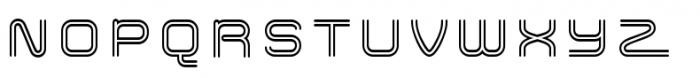 Hardliner BiLine Font UPPERCASE