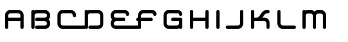 Hardliner Font UPPERCASE