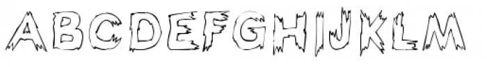 Haunted Hillbilly Outline Font UPPERCASE