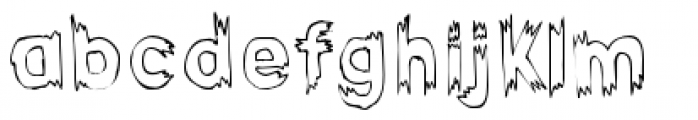 Haunted Hillbilly Outline Font LOWERCASE