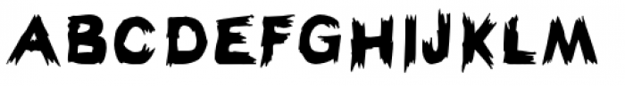 Haunted Hillbilly Solid Font UPPERCASE
