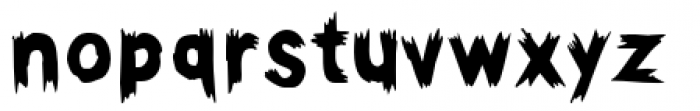 Haunted Hillbilly Solid Font LOWERCASE