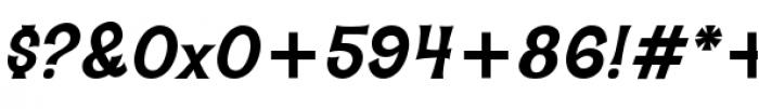 Hawaiian Aloha BTN Bold Oblique Font OTHER CHARS