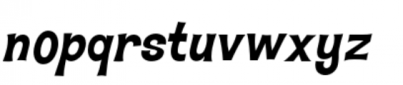 Hawaiian Aloha BTN Bold Oblique Font LOWERCASE