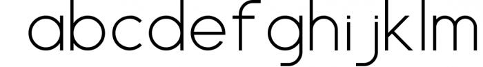 HARBINGER, sans serif font Font LOWERCASE