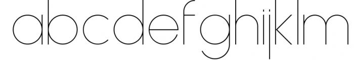 HAUS Sans Ultra Light 1 Font LOWERCASE