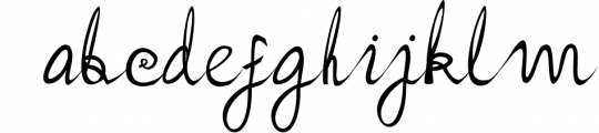 Hailey Font LOWERCASE
