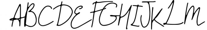 Handlettered Font Bundle 50 in 1. 4 Font UPPERCASE