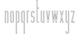 Hashtag Moderna - duo font Extra 1 Font LOWERCASE