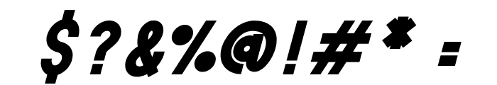 HANDA Bold Italic Font OTHER CHARS