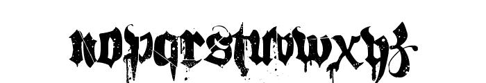 Hacjiuza Dirty Font UPPERCASE