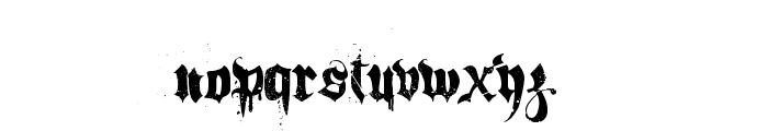 Hacjiuza Dirty Font LOWERCASE