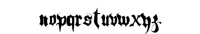 Hacjiuza Font LOWERCASE