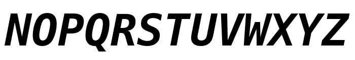Hack Bold Italic Font UPPERCASE