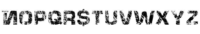 HackingTrashed Regular Font UPPERCASE