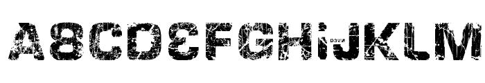 HackingTrashed Regular Font LOWERCASE