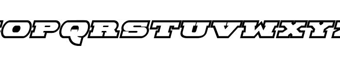 Hackney Block Outline Italic Font UPPERCASE