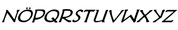 Hadriatic Bold Italic Font UPPERCASE