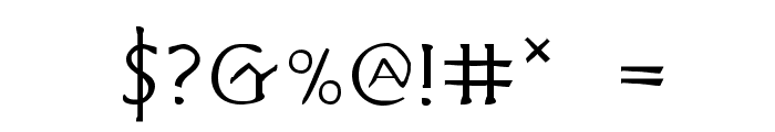 Hadriatic Extended Font OTHER CHARS