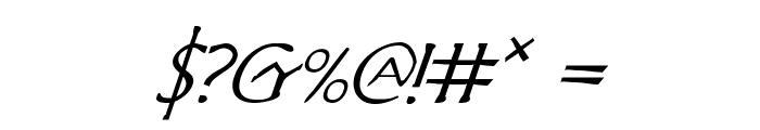 Hadriatic Italic Font OTHER CHARS