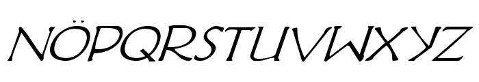 Hadriatic Italic Font UPPERCASE