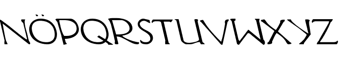 Hadriatic Leftalic Font UPPERCASE