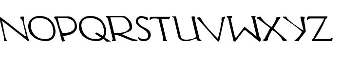 Hadriatic Leftalic Font LOWERCASE