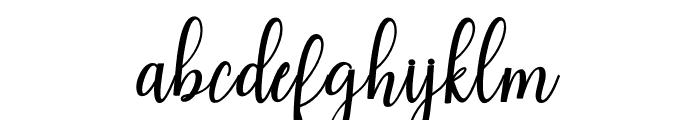 HaeartyScript Font LOWERCASE