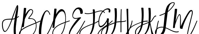 Hafizan Script Font UPPERCASE