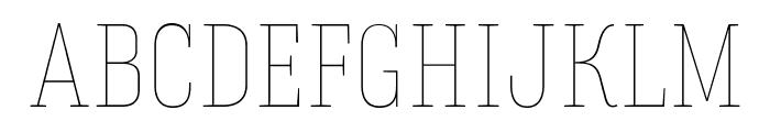 HaginCapsThin Font UPPERCASE