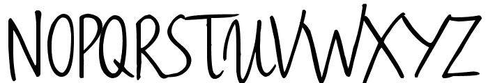 Haiku's Script ver 09 Bold Font UPPERCASE