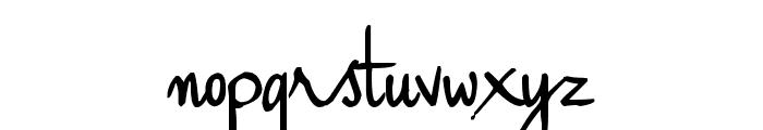 Haiku's Script ver 09 Bold Font LOWERCASE