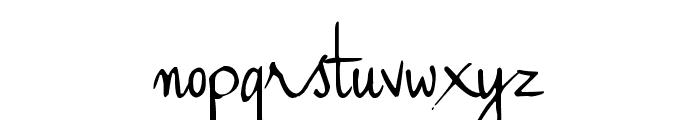 Haiku's Script ver 09 Regular Font LOWERCASE