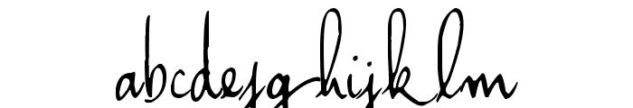 Haiku's Script ver.06 Font LOWERCASE
