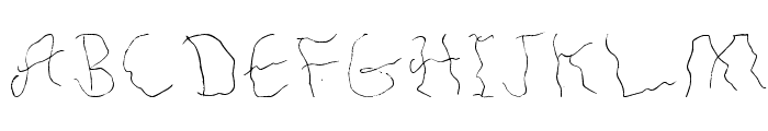 Hair Line Font UPPERCASE