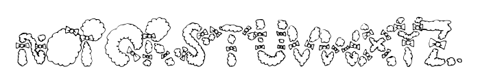 HairBows Font LOWERCASE