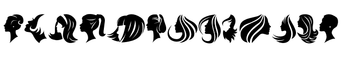 Haircut Regular Font UPPERCASE