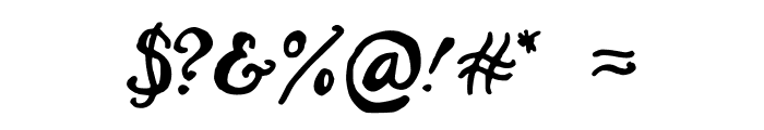 Hairstreak Font OTHER CHARS