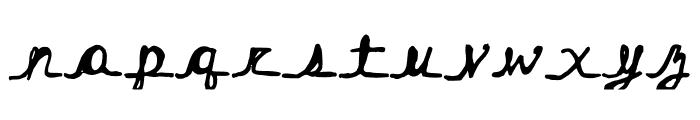 Hairstreak Font LOWERCASE