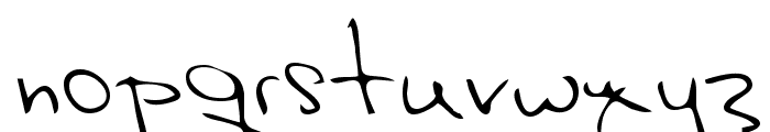Hak Regular Font LOWERCASE