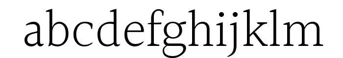Halant Light Font LOWERCASE