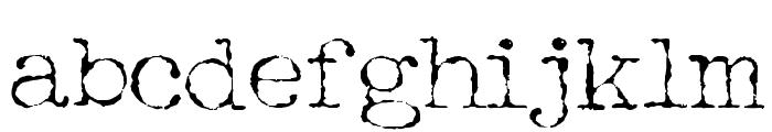 Halbstarke Pica Font LOWERCASE