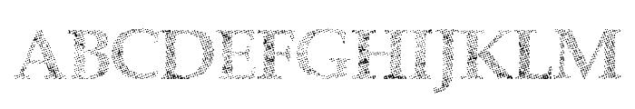 HalfFaded Font UPPERCASE