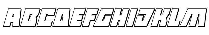 Halfshell Hero 3D Italic Font LOWERCASE