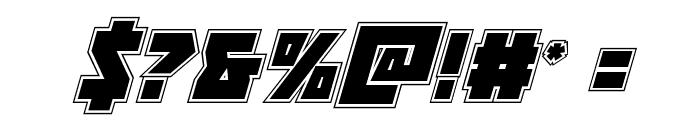 Halfshell Hero Academy Italic Font OTHER CHARS