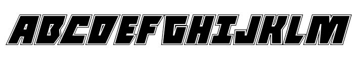 Halfshell Hero Academy Italic Font UPPERCASE